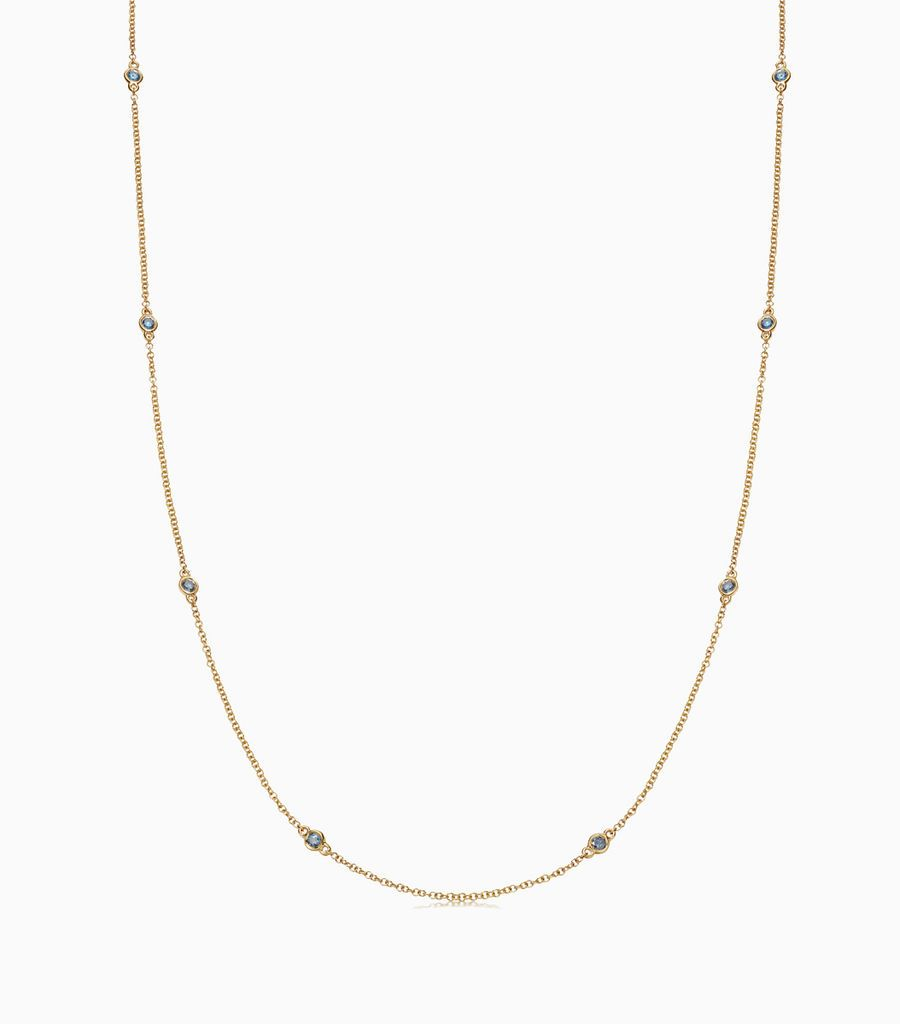 32 inch Teal Diamond Necklace
