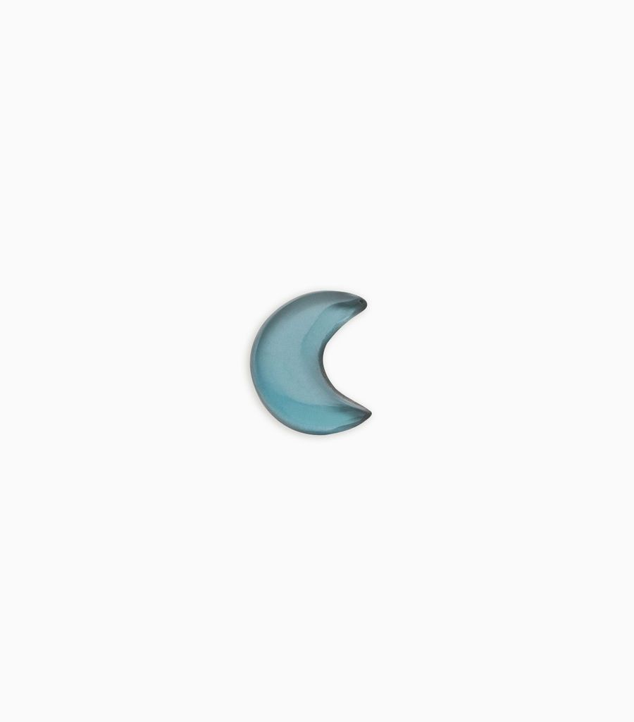 Serenity, blue topaz, moon
