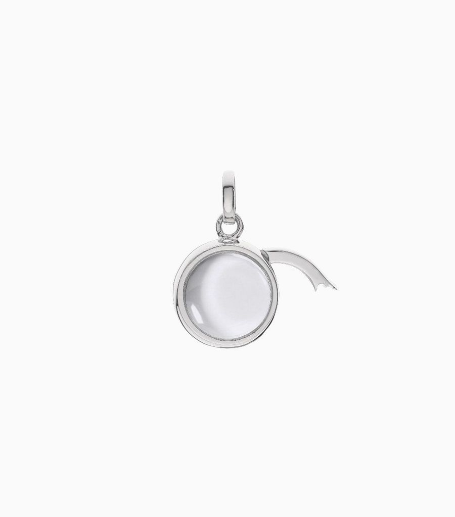 Small Round Locket Pendant White Gold