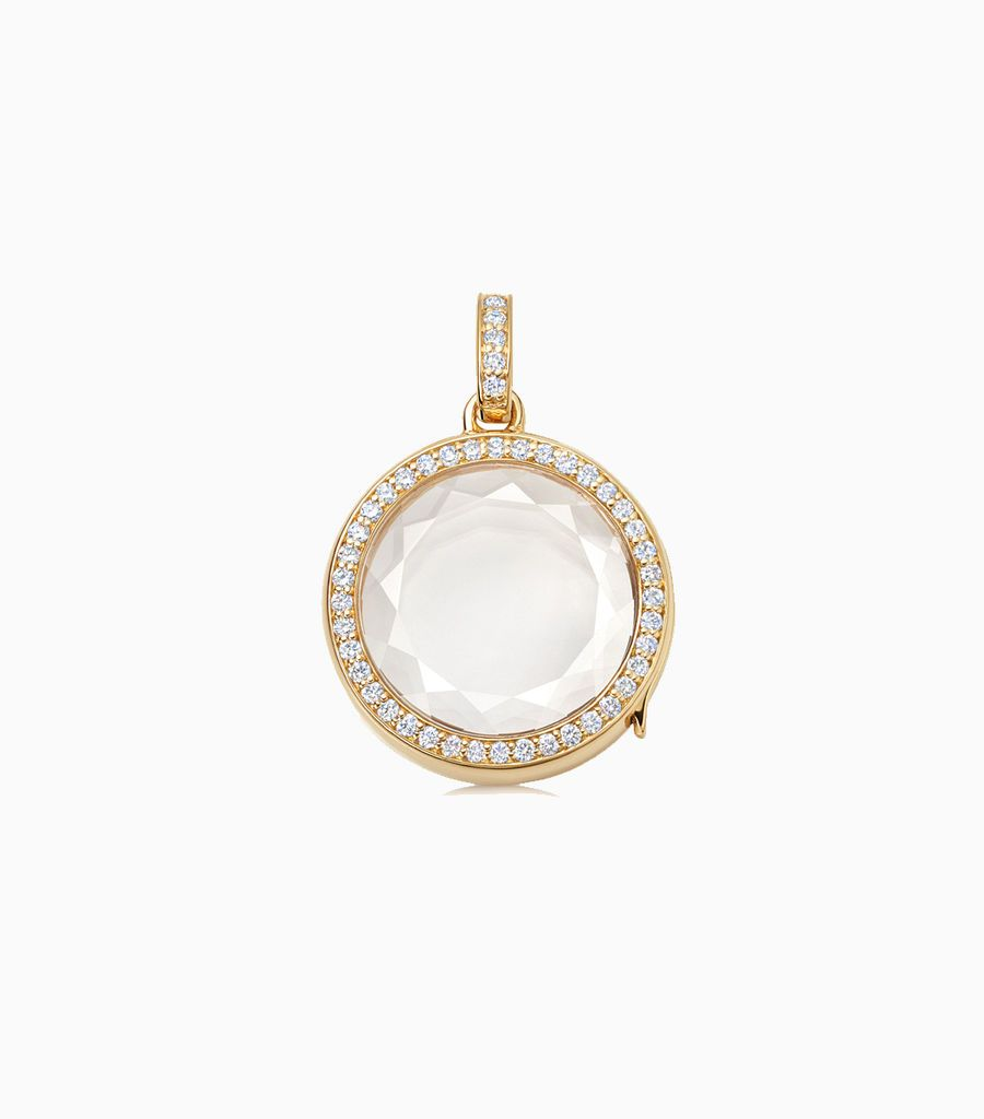 Medium Round Diamond Locket