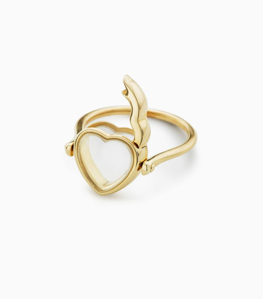 Small Heart Loquet Ring 9kt