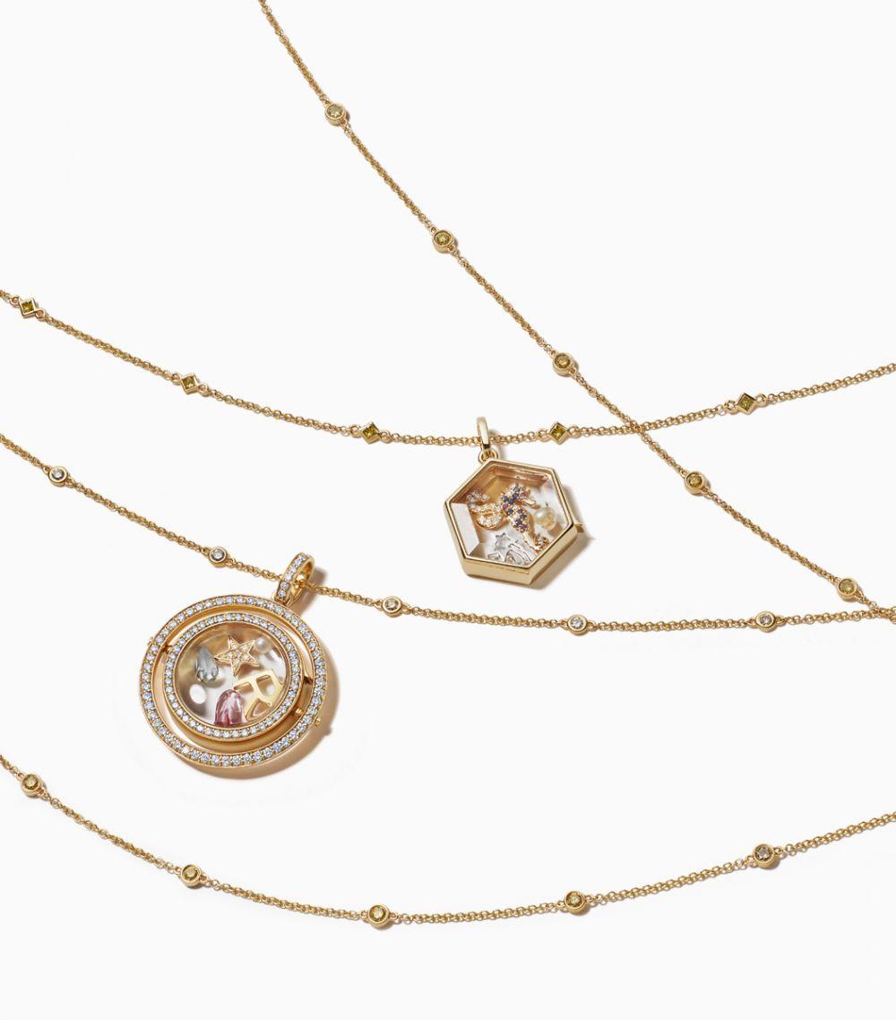 Long Fancy Yellow Diamond Necklace