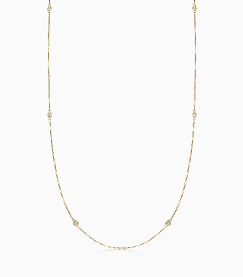 Long Diamond Necklace - all colours